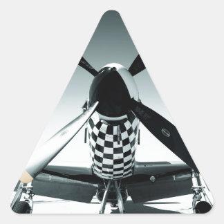 Vintage War Bird Triangle Sticker