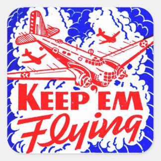 Vintage War Bonds Matchbook Keep Em' Flying Plane Sticker
