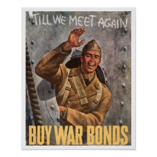 Vintage War Bonds World War II Poster