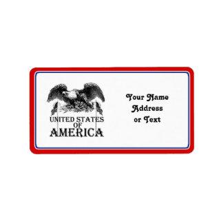 Vintage War Eagle Address Label