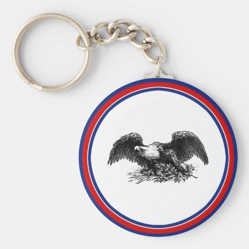 Vintage War Eagle Basic Round Button Keychain