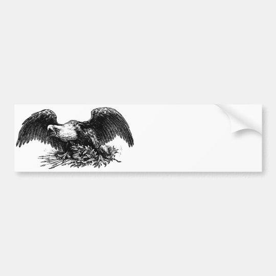 Vintage War Eagle Bumper Sticker