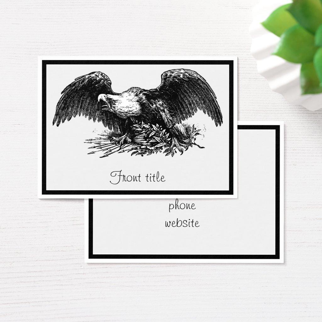 Vintage War Eagle Business Card