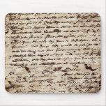 Vintage war letter mousepad