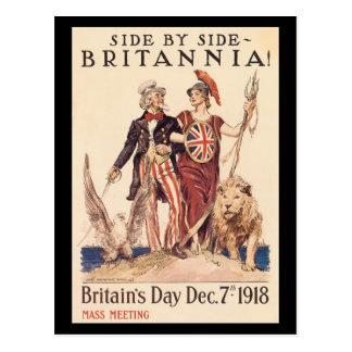 Vintage War Postcards, Britian allies Postcard