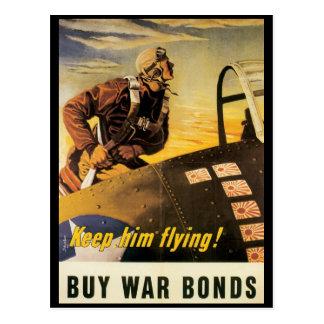 Vintage War Postcards, Keep him flying! Postcard