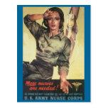 Vintage War Postcards, Nurses are needed Postcard