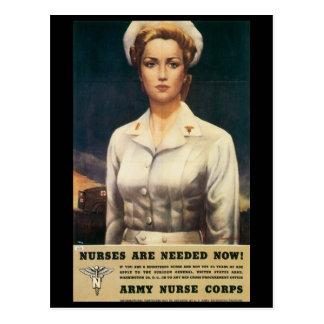 Vintage War Postcards, US Nurse Corps Postcard