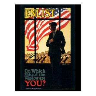 Vintage War Postcards, Vintage Enlist Poster