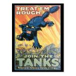 Vintage War Postcards, Vintage Tank Poster