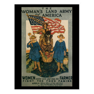 Vintage War Postcards, Women help Postcard