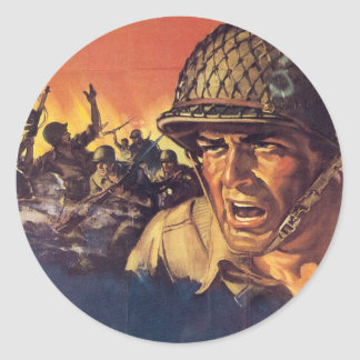 Vintage War Poster - American soldier stickers