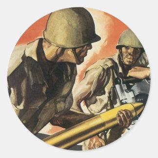 Vintage War Poster - Amo Stickers