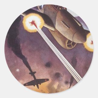 Vintage War Poster - Fighter Jets stickers