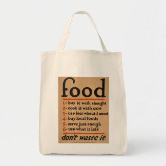 """Vintage war poster, """"Food, don´t waste it"""" Tote Bag"""