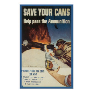 Vintage War Poster from WWI and WWII