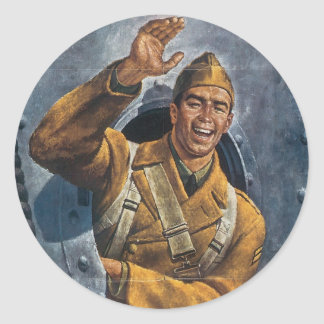 Vintage War Poster - Meet again Stickers