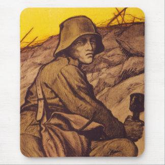 Vintage War Poster Mouse Pad - German