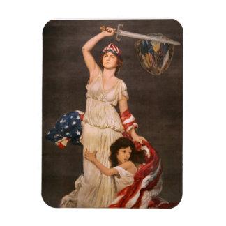 Vintage War Poster Rectangular Photo Magnet