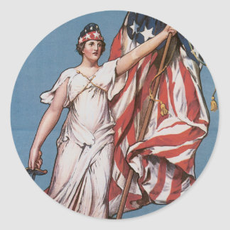 Vintage War Poster stickers - Liberty