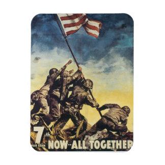 Vintage War Rectangular Photo Magnet