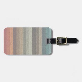 Vintage Warm Autumn Striped Pattern, Earth Tones Bag Tag