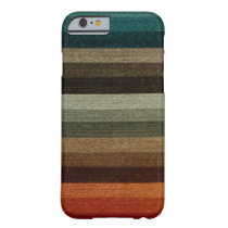 Vintage Warm Autumn Striped Pattern, Earth Tones Barely There iPhone 6 Case