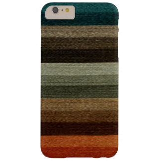 Vintage Warm Autumn Striped Pattern, Earth Tones Barely There iPhone 6 Plus Case