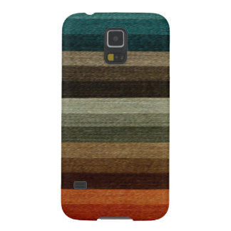 Vintage Warm Autumn Striped Pattern, Earth Tones Case For Galaxy S5