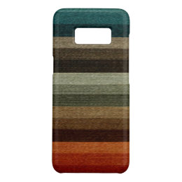 Vintage Warm Autumn Striped Pattern, Earth Tones Case-Mate Samsung Galaxy S8 Case