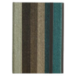 Vintage Warm Autumn Striped Pattern, Earth Tones iPad Air Covers