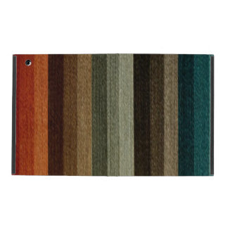 Vintage Warm Autumn Striped Pattern, Earth Tones iPad Cover