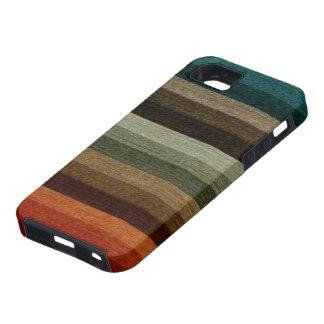 Vintage Warm Autumn Striped Pattern, Earth Tones iPhone 5 Case