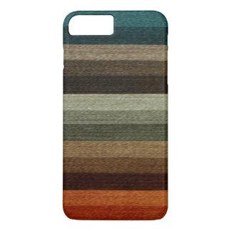 Vintage Warm Autumn Striped Pattern, Earth Tones iPhone 7 Plus Case