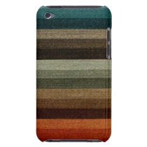 Vintage Warm Autumn Striped Pattern, Earth Tones iPod Touch Case