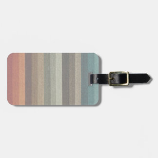 Vintage Warm Autumn Striped Pattern, Earth Tones Tag For Luggage