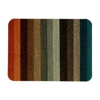Vintage Warm Autumn Striped Pattern, Earth Tones Magnet