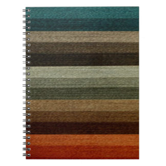 Vintage Warm Autumn Striped Pattern, Earth Tones Note Books