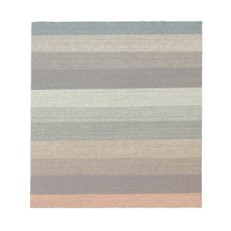 Vintage Warm Autumn Striped Pattern, Earth Tones Notepad