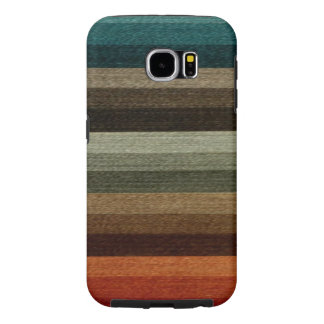 Vintage Warm Autumn Striped Pattern, Earth Tones Samsung Galaxy S6 Case