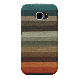 Vintage Warm Autumn Striped Pattern, Earth Tones Samsung Galaxy S6 Case