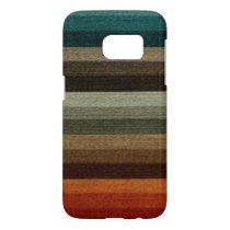 Vintage Warm Autumn Striped Pattern, Earth Tones Samsung Galaxy S7 Case
