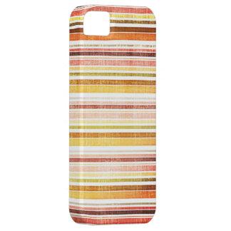 Vintage Warm Autumn Stripes Pattern iPhone 5 Cover