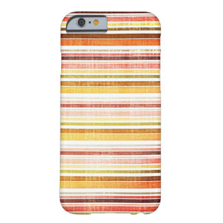Vintage Warm Autumn Stripes Pattern Barely There iPhone 6 Case