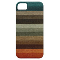 Vintage Warm Autumn Stripes Pattern, Earth Tones iPhone 5 Cases