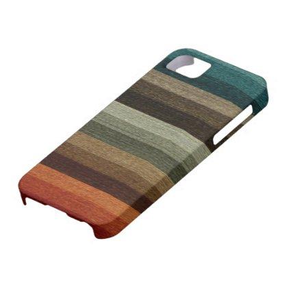 Vintage Warm Autumn Stripes Pattern, Earth Tones iPhone 5 Cases