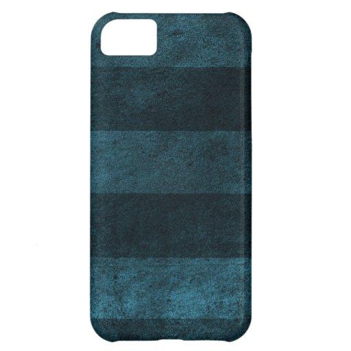 Vintage warm blue stripes iPhone 5C cover