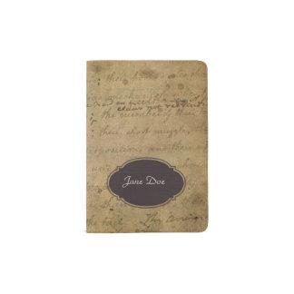 Vintage warn out look passport holder