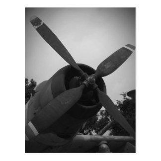 Vintage warplane postcard