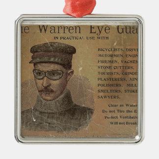 Vintage Warren Eye Guard Metal Ornament